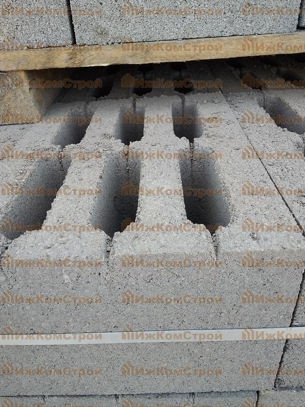 Шестипустотный стеновой керамзитобетонный блок Ижкомстрой Ижевск
